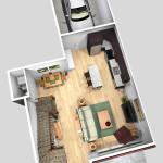Unit A 1st Floor Plan (Solid)