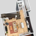 Unit B 1st Floor Plan (Solid)