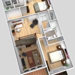 Unit B 2nd Floor Plan (Solid)