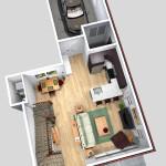 Unit C 1st Floor Plan (Solid)