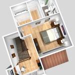 Unit C 2nd Floor Plan (Solid)