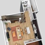 Unit D 1st Floor Plan (Solid)