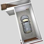 Unit D Garage Floor Plan (Solid)